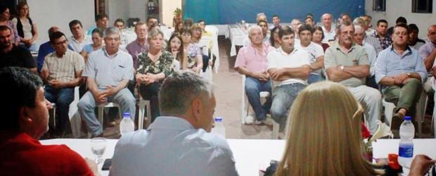 Estación Sosa fue el epicentro de un fuerte respaldo de las Juntas de Paraná