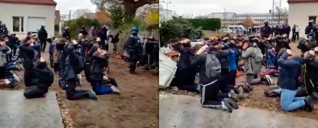 FRANCIA:  Más de 700 estudiantes secundarios fueron detenidos en París
