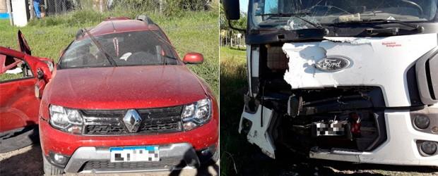 Departamento Victoria:  Una mujer y sus dos hijos murieron tras despiste y choque en la Ruta Nº11