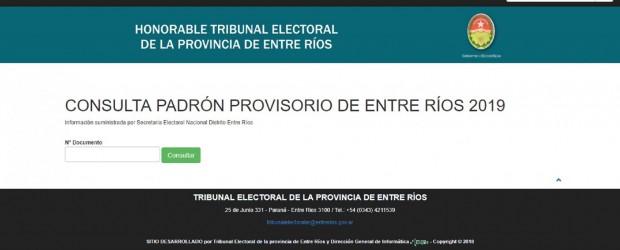 Ya se pueden consultar los padrones electorales provisorios