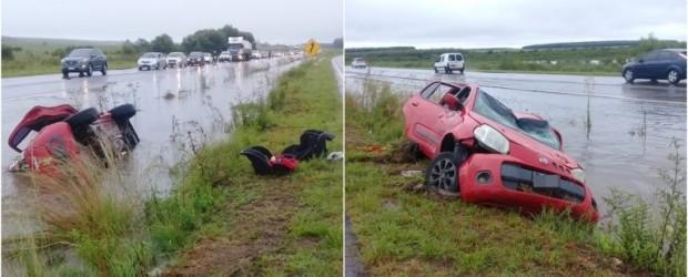 Grave despiste en la Autovía Artigas: Una pareja y sus dos hijas resultaron heridas