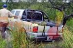 VIENTOS-LLUVIA INTENSA-RUTA CARGADA DE AGUA: El combo que hizo despistar una pick up en ruta 127