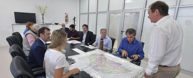 En frentes simultáneos, el equipo de gobierno trabaja en los territorios afectados por las lluvias