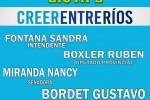 """ESTE VIERNES 1º: Presentación de los Pre Candidatos, Lista 2 Frente Justicialista""""Creer Entre Ríos"""""""
