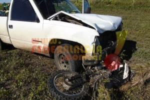 DPTO. FEDERAL: Un motociclista perdió la vida en la ruta provincial 22