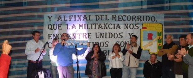 CONSCRIPTO BERNADI: Los pre candidatos de Creer Entre Ríos realizaron el cierre de campaña con una importante asistencia de militantes y adherentes al partido justicialista, la lista Nº cc2