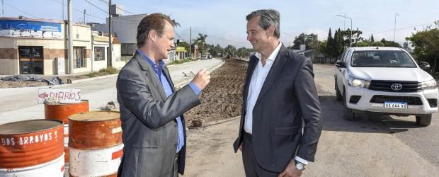 Bordet y Bahl recorrieron el acceso sur a Paraná y proyectaron obras complementarias