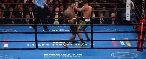 Boxeo: Deontay Wilder le ganó por KO a Breazeale