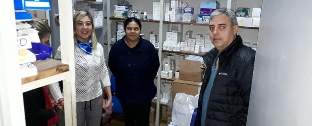 Sandra Fontana realizó donación de importante partida de medicamentos
