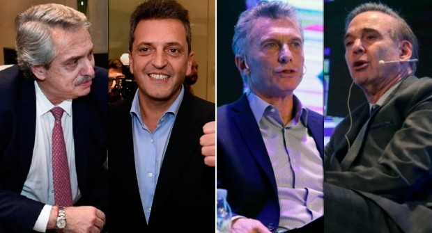 Frentes para las elecciones: Juntos por el Cambio de Macri y Pichetto y Todos de Alberto Fernández, Cristina y Massa