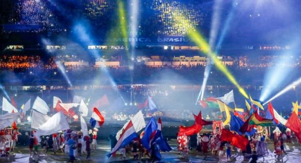 Austera y breve ceremonia inaugural de la Copa América Brasil 2019