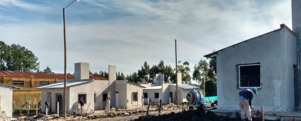 Avanzan a buen ritmo las 10 viviendas en Estancia Grande que financia la provincia