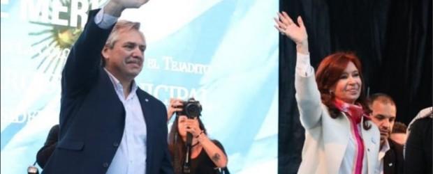 La fórmula Fernández-Fernández cierra su campaña en Rosario