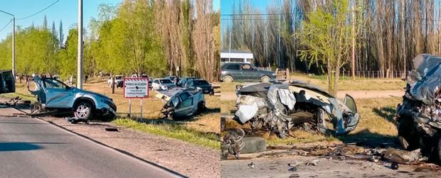 La Pampa: Tres muertos en impresionante choque: Camioneta quedó partida a la mitad