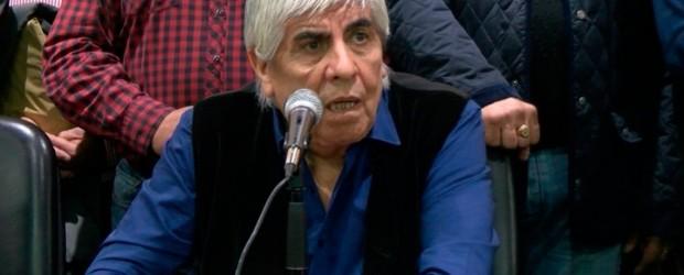 """Hugo Moyano: """"Macri no se tiene que comparar con San Martín sino con el caballo"""""""