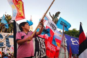 Funcionarios provinciales participaron del acto en repudio al golpe