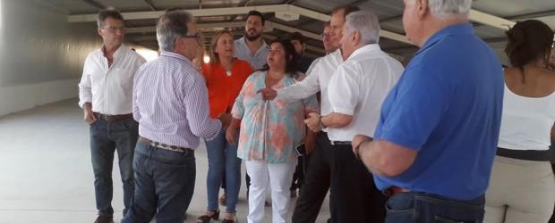 Bordet visitó las obras millonarias de ampliación del complejo avícola del grupo Motta