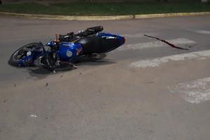 Sauce de Luna: Un jóven motociclista sufrió lesiones graves en incidente de tránsito