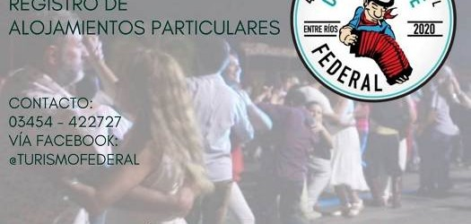 Federal: Convocan a quienes dispongan de alojamientos para los días del festival